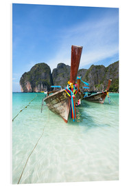 Foam board print  Decorated wooden boats, Thailand - Matteo Colombo