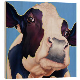 Wood print  cow Alia - Renate Berghaus