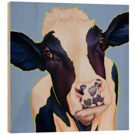Wood print  cow Trudi - Renate Berghaus