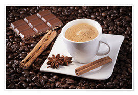 Poster  Coffee chocolate pleasure - pixelliebe