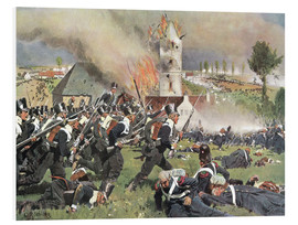 Foam board print  Battle of Waterloo 1815 - Carl Röchling