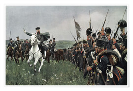 Premium poster  Bluecher at the battle of Katzbach 1813 - Carl Röchling