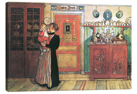 Canvas  Between Christmas and New Year - Carl Larsson
