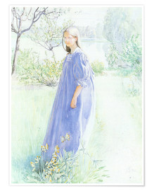 Premium poster  Sun and flowers - Carl Larsson