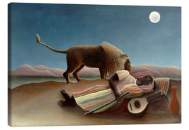 Canvas  The sleeping one - Henri Rousseau