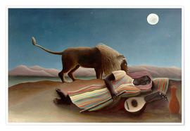 Premium poster  The sleeping one - Henri Rousseau