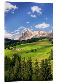 Acrylic print  Green valley in South Tyrol - Matteo Colombo