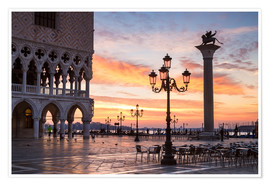 Premium poster St Mark's square at sunrise