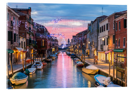 Acrylic print  Canal in Venice at Christmas - Matteo Colombo