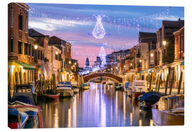 Canvas print  Canal in Venice at Christmas - Matteo Colombo