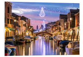Foam board print  Canal in Venice at Christmas - Matteo Colombo