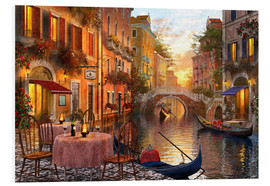 Foam board print  Venetian sunset - Dominic Davison