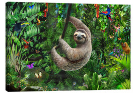 Canvas print  Sloth in the jungle - Adrian Chesterman