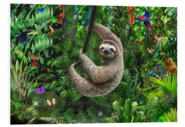 Foam board print  Sloth in the jungle - Adrian Chesterman