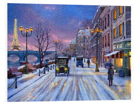 Foam board print  Winter in Paris - Dominic Davison