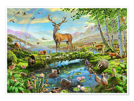 Premium poster 24402 Wildlife Splendor UK