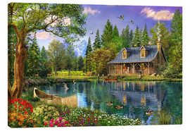 Canvas print  Crystal Lake Cabin - Dominic Davison
