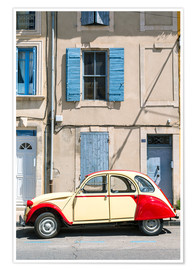 Poster  Citroen 2CV car, France - Matteo Colombo