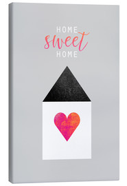 Canvas  Home Sweet Home - Elisabeth Fredriksson