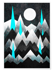 Poster  Dark Mountains - Elisabeth Fredriksson