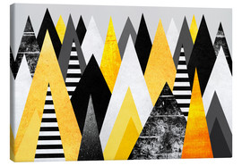 Canvas  Yellow Peaks - Elisabeth Fredriksson