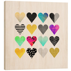 Wood print  You're so adorable - Elisabeth Fredriksson