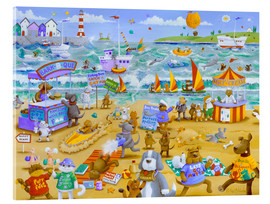 Acrylic print  Cats and dogs on the beach - Peter Adderley