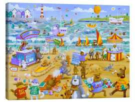 Canvas print  Cats and dogs on the beach - Peter Adderley