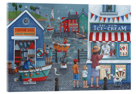 Acrylic print  Seaside icecreams - Peter Adderley