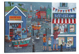 Aluminium print  Seaside icecreams - Peter Adderley