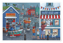 Premium poster  Seaside icecreams - Peter Adderley