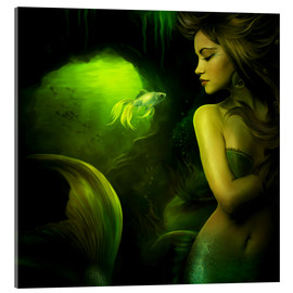 Acrylic glass  The mermaid - Elena Dudina