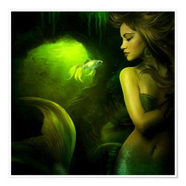 Premium poster  The mermaid - Elena Dudina