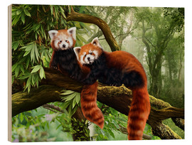 Wood  Red Pandas - Katarina Sokolova