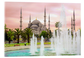 Acrylic glass  the blue mosque (magi cami) in Istanbul / Turkey (vintage picture) - gn fotografie