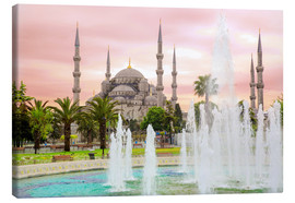 Canvas  the blue mosque (magi cami) in Istanbul / Turkey (vintage picture) - gn fotografie