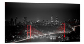 Forex  Bosporus-Bridge at night - color key red (Istanbul / Turkey) - gn fotografie
