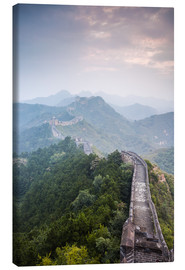 Canvas  Great Wall of China in fog - Matteo Colombo