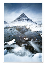 Poster  Snow covered Buachaille Etive Beag, Glencoe, Scotland - Matteo Colombo
