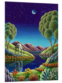 Foam board print  Blue Moon Rising - Andy Russell