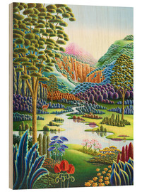 Wood print  Eden - Andy Russell