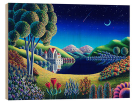 Wood print  Blue Moon - Andy Russell