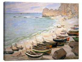 Canvas print  Boats on the beach at Etretat - Claude Monet