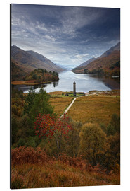 Aluminium print  Glenfinnan Monument - Scotland - Martina Cross
