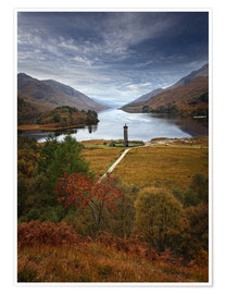 Poster  Glenfinnan Monument - Scotland - Martina Cross
