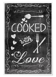 Premium poster  Cooked with Love - Andrea Haase