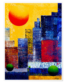 Premium poster New York Skyline Abstrakt