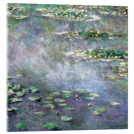 Acrylic print  Water-Lily pond - Claude Monet