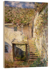 Wood print  The staircase - Claude Monet