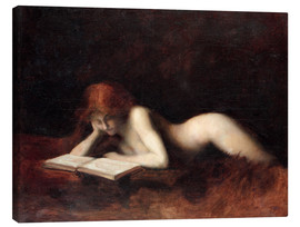 Canvas print  The Reader - Jean-Jacques Henner